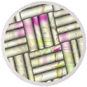 Pattern Tiles Abstract Round Beach Towel