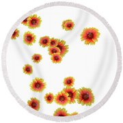 Patterns From Flowers Round Beach Towel
