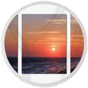 Patterns Of Sunset Round Beach Towel