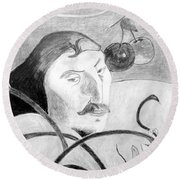 Paul Gauguin Round Beach Towel