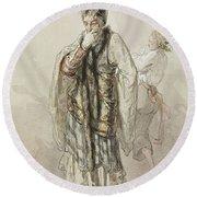 Paul Gavarni French, 1804-1866 Actors Round Beach Towel