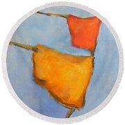 paul klee Painting, Scarecrows  Round Beach Towel