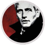Paul Newman Round Beach Towel
