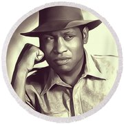 Paul Robeson, Vintage Actor And Singer Round Beach Towel