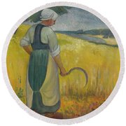 Paul Serusier 1864 - 1927 Breton Young To Sickle Round Beach Towel