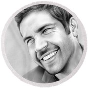 Paul Walker Round Beach Towel