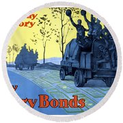 Pave The Way To Victory Round Beach Towel by War Is Hell Store