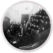 Pavlov In Lecture Theater, 1904 Round Beach Towel