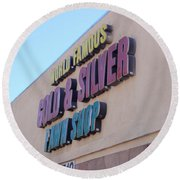 Pawn Stars Shop - Las Vegas Nevada Round Beach Towel