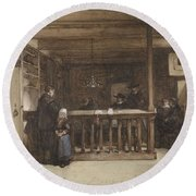 Payday, The Ships Room Right House Nieuw-loosdrecht, Furnished With Seventeenth-century Figures, Joh Round Beach Towel