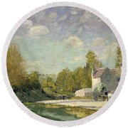 Paysage Round Beach Towel by Alfred Sisley