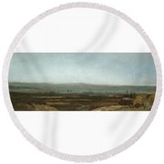 Paysage Panoramique Round Beach Towel