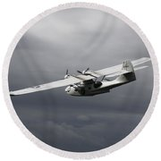 Pby Catalina Vintage Flying Boat Round Beach Towel
