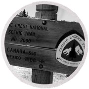 Pct Scenic Trail Round Beach Towel