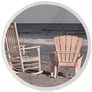Peace And Purpose Round Beach Towel