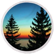Peace And Quiet 2 Round Beach Towel