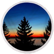 Peace And Quiet 3 Round Beach Towel