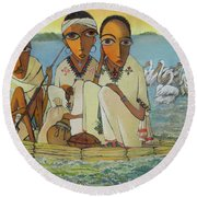 Peace And Serenity Round Beach Towel