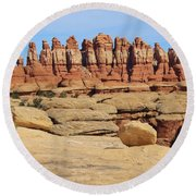 Peace And Solitude Round Beach Towel