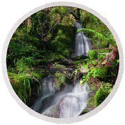 Peace And Tranquility Too Round Beach Towel