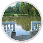 Peace By The Lake Round Beach Towel