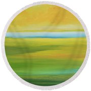 Peace Day Round Beach Towel