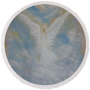Peace From An Angel  Round Beach Towel