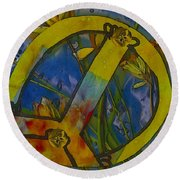Peace In The Nature Round Beach Towel