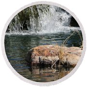 Peace In The Park Round Beach Towel