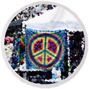 Peace In The Streets Round Beach Towel