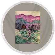 Peace In The Valley Round Beach Towel