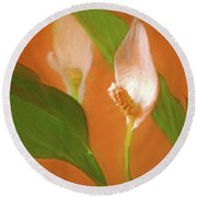 Peace Lily Grace 10 Round Beach Towel