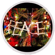 Peace Ornament Round Beach Towel