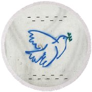 Peace Round Beach Towel