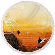 Peace Underneath 4 Round Beach Towel