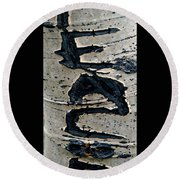 Peace Written In The Trees 4 Round Beach Towel