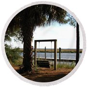 Peaceful Afternoon Round Beach Towel