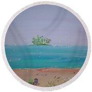 Peaceful Beach Round Beach Towel