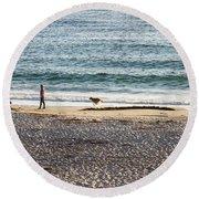 Peaceful Beaches Round Beach Towel