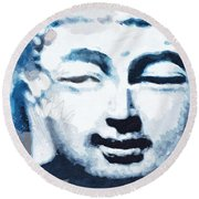 Peaceful Buddha 2- Art By Linda Woods Round Beach Towel