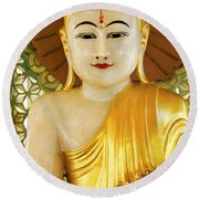 Peaceful Buddha Round Beach Towel