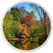 Peaceful Calm - Allaire State Park Round Beach Towel