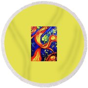 Peaceful Coexistence Round Beach Towel