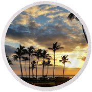 Peaceful Dreams Hawaii Round Beach Towel