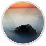 Peaceful Isolation Round Beach Towel