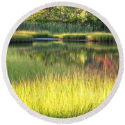 Peaceful Marsh Round Beach Towel
