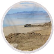Peaceful Moments By The Salt Lake 4 Round Beach Towel