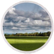 Peaceful Morning - Hdr Round Beach Towel
