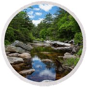 Peaceful Morning On The Peterskill Round Beach Towel