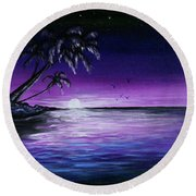 Peaceful Night Round Beach Towel